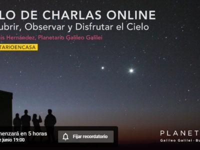 Martes 16/6/2020 a las 19hs. Ciclo de Charlas Online del Planetario de la Ciudad de Buenos Aires