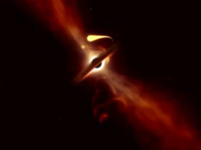 Detectan justo el momento en que un agujero negro tritura una estrella